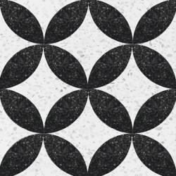 Terrazzo Noir Et Blanc - 20...