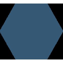 Hexagone - Bleu pétrole