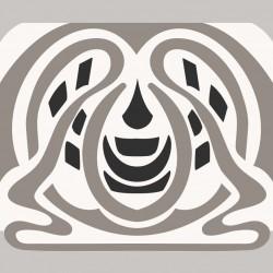 Frise - Orchydée Noir Et Blanc