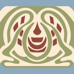 Frise - Orchydee Rouge Et Vert