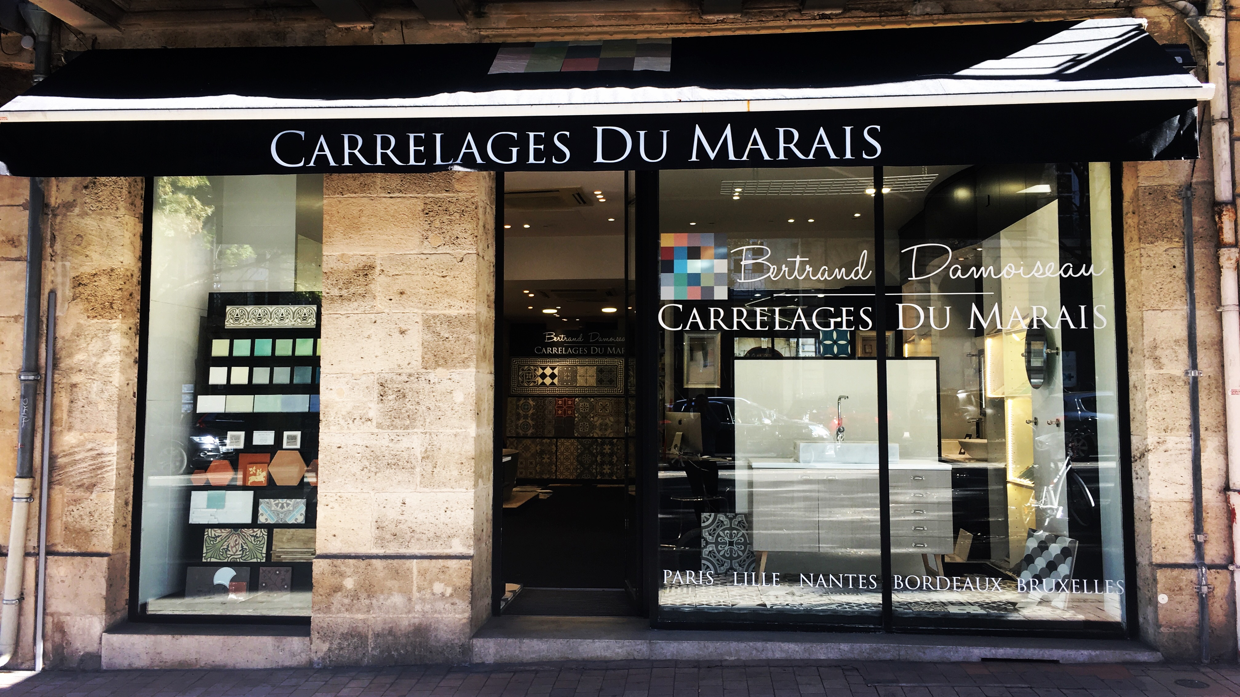 carrelage du marais showroom bordeaux. Black Bedroom Furniture Sets. Home Design Ideas